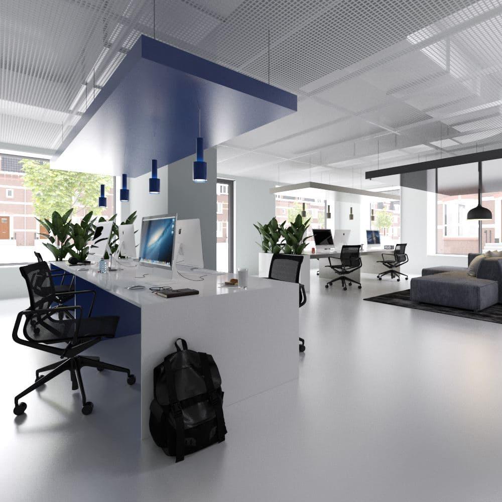 Interieur bedrijfsruimte Boterdiep Groningen (blauw)